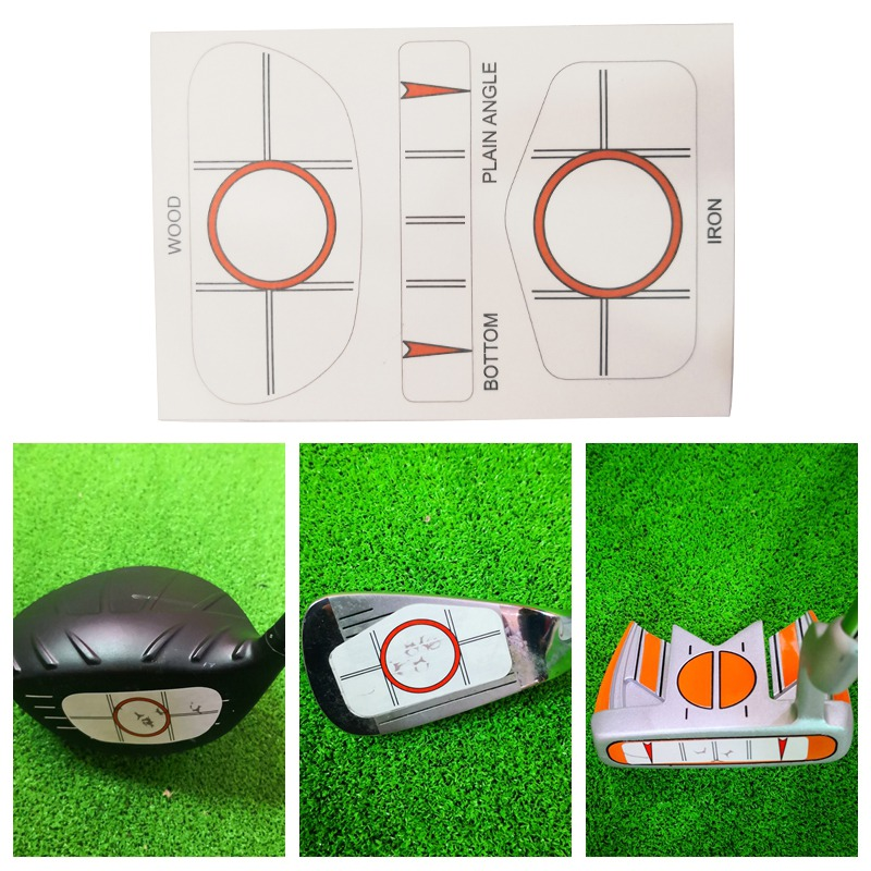 10PC Golf Training Practice Supplies Golf Hit Stickers Impact Labels Target Sticker Tape Driver Iron Dot Test Paper