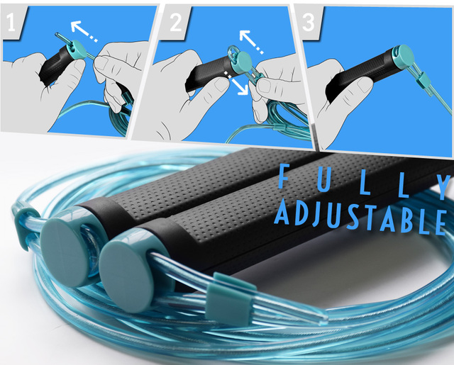 KYTO Jump Rope Crossfit Skipping Rope Adjustable 3M Training Cable With Bearing Steel Wire Loss Weight Speed Boxing, MMA 3