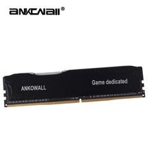 Ankowall memória com dissipador de calor, memória ram ddr3 8gb 16g 4gb 1866mhz 1333 1600mhz para deskptop com 240pin novo suporte dimm por amd/intel g41