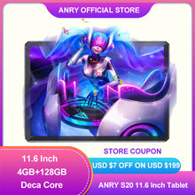 ANRY S20 Tablet 11,6 Zoll 128GB ROM 4GB RAM Deca 10 Core 4G Anruf MTK6797T X25 8000mAh Android 8,1 IPS 1920*1080 Tablet Pc