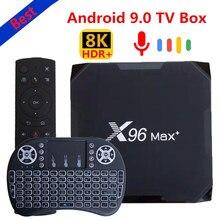 Melhor smart tv box 2020 x96 max mais mini android 9.0 amlogic s905x3 quad core 4gb 64gb 32 8k wifi 4k x96max + media player