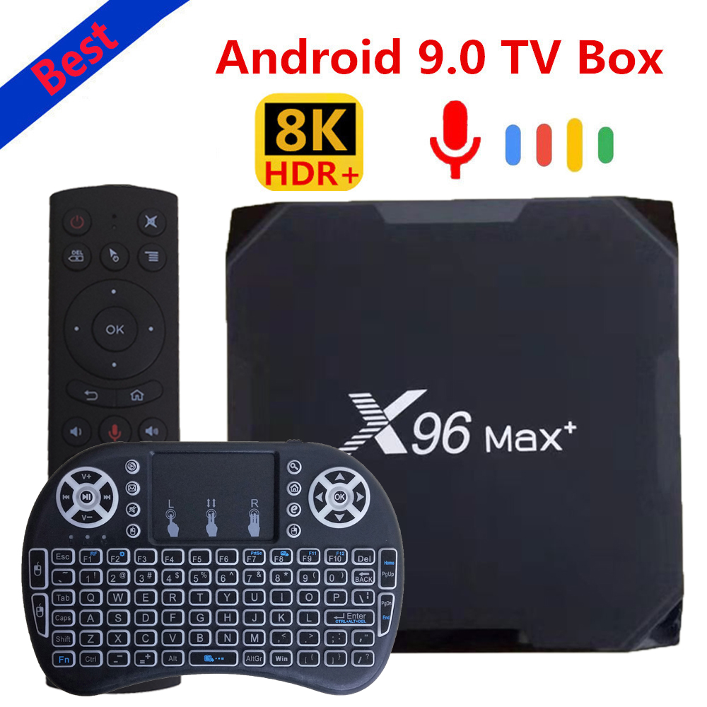 Melhor caixa de TV Inteligente 2020 X96 max plus mini S905X3 4pda Android 9.0 Amlogic Quad Core 4GB GB GB 8 32 64 K Wifi 4K X96Max + Media Player