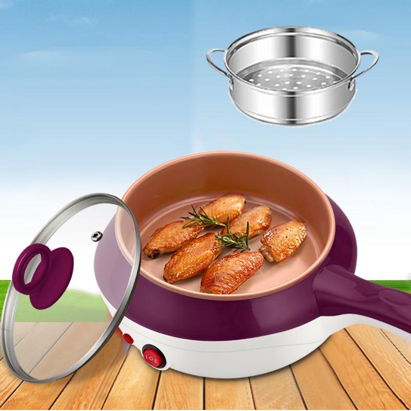 Мини-пароварка из нержавеющей стали для яиц, электрическая сковорода, многофункциональная кухонная плита, кухонный горшок для готовки, жар...