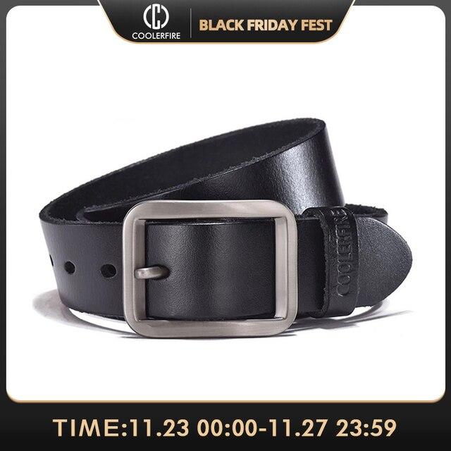 יוקרה חגורת גברים של חגורות הראשים אבזם איש של אמיתי עור רצועת עבור ז אן באיכות גבוהה רחב חום צבע אופנה JTC012