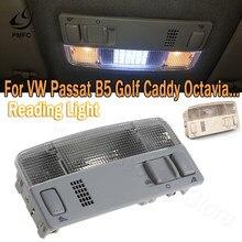 Pmfc luz de leitura interior do carro para vw passat b5 golf 4 bora polo caddy touran octavia fabia 4300k branco