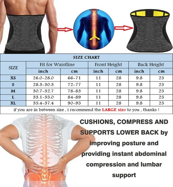 NINGMI Man Shaper Waist Trainer for Men Neoprene Hot Sweat Shirt Body Modeling Belt Weight Loss Slimming Underwear Corset Girdle 5