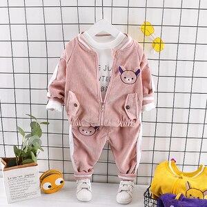 Image 5 - Childrenl Baby Meisjes Jongens Kleding Peuter Kleding Baby Herfst Suits Cartoon Jas T shirt Broek 3 Stks/sets Kids Leisure Kostuum