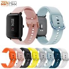 Silikon Sport Strap Für Xiaomi Huami Amazfit Bip Jugend LITE Smart Uhr Handgelenk 20MM Ersatz Band Armband Smart Zubehör