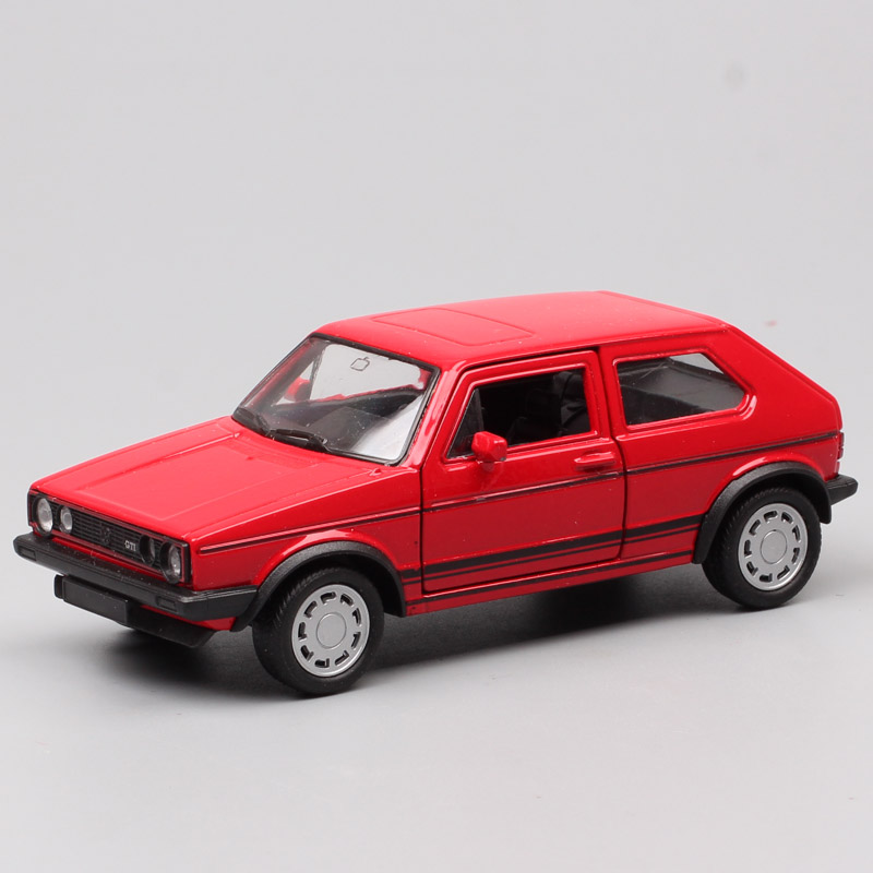 Classic Welly 1:36 Scale Golf GTI Rabbit Pull Back Vehicles Die Cast Car Models Toy Metal For Baby Boys Collection Gift Souvenir