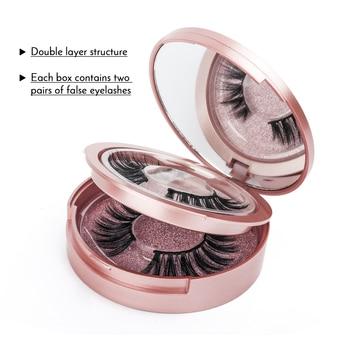 Magnetic False Eyelashes & Magnetic Liquid Eyeliner Set 5 Magnets Natural Fake Eyelashes Extension Waterproof Lasting Makeup Kit 5