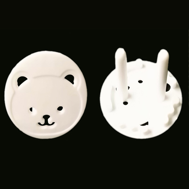 10pcs Baby Safety Child Electric Socket Outlet Plug Protection Security Two Phase Safe Lock Cover Kids Sockets Cover Plugs 4