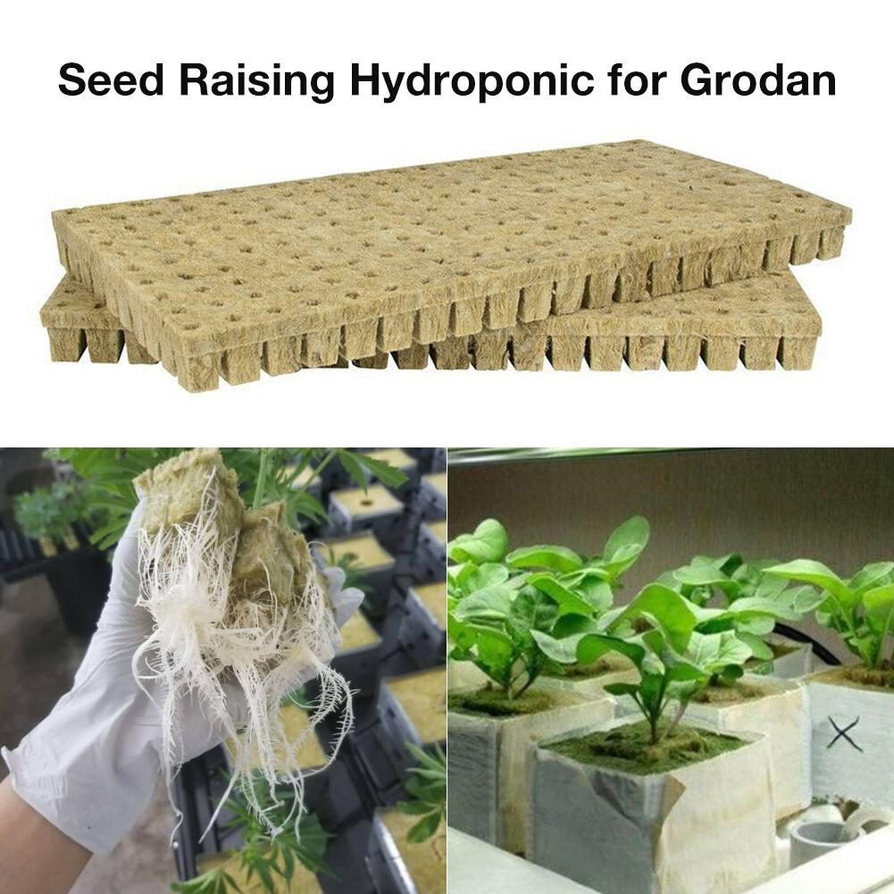 50 Pcs/set Rockwool Sheet Block Nursery Block Propagation Cloning Seed Starting Plugs Seeds Starter Pallet Seedling Soil Block