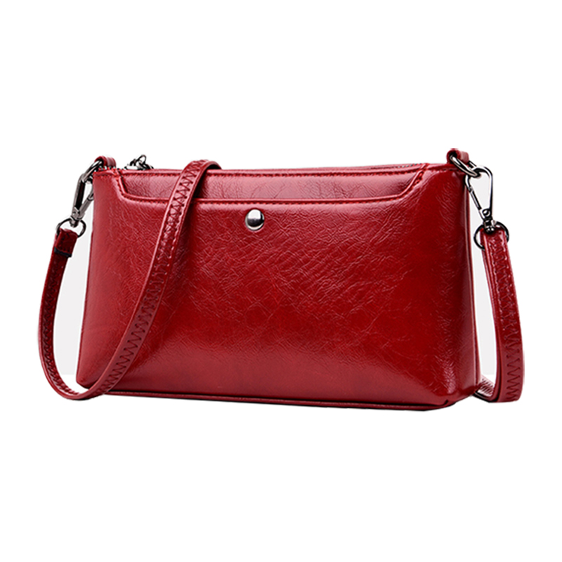 New Women Flap Fashion Casual Leather Shoulder Bags Lady Crossbody Messenger Bag Elegant Envelop Clutch Purse