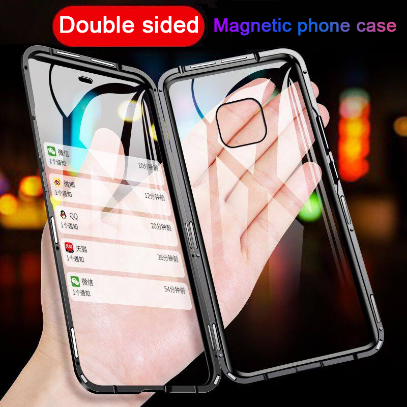 Glass-Case Mate Huawei Honor Double-Side-Cover Metal Magnetic Psmart 20-Lite Y9 Prime