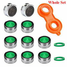 10 Pcs Faucet Tap Water Saving Aerator Copper with Faucet Aerator Wrench Jet Regulators Filter Spare Part for Kitchen Bath Tools