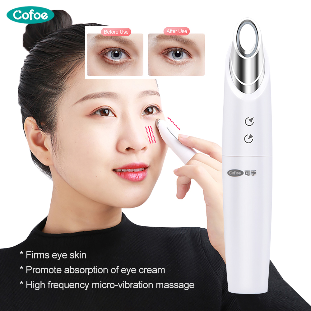 Cofoe Eye Beauty Instrument Electric Massager Firms Skin Around Eyes Promote Eye Cream Absorption Remove Wrinkle Dark Circles
