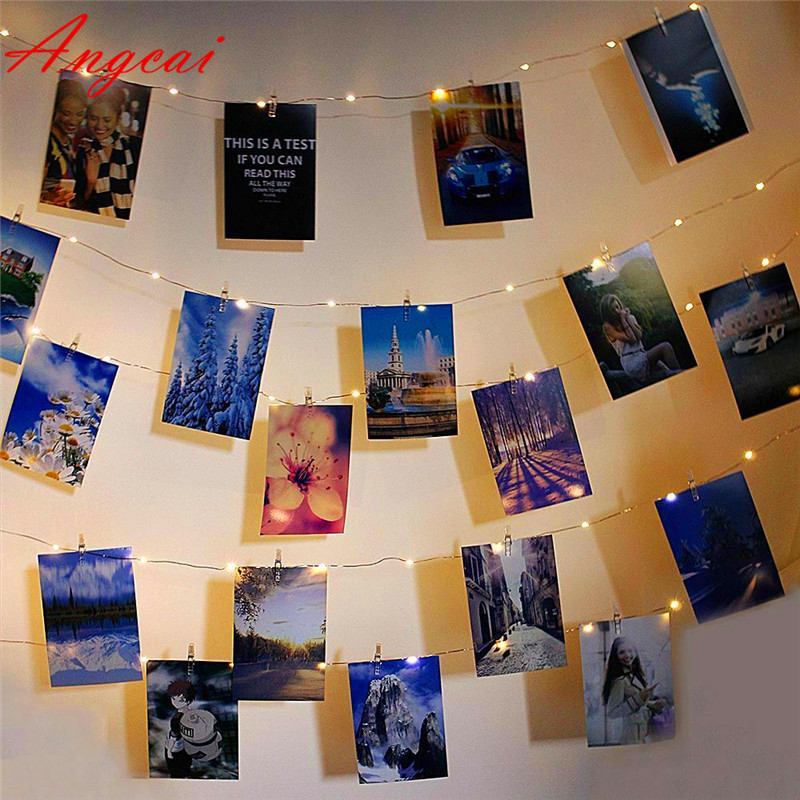 Upgrade Version LED Photo Clip Fairy String Lights Waterproof USB/Battery Powered Decor Garland Party Birthday Gift