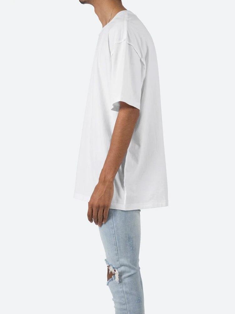 COOLMIND 100% cotton short sleeve streetwear men T shirt casual loose cool men t-shirt o-neck summer tshirt men tee shirts tops