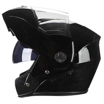 2 Gifts Unisex Racing Motorcycle Helmets Modular Dual Lens Motocross Helmet Full Face Safe Helmet Flip Up Cascos Para Moto kask 23