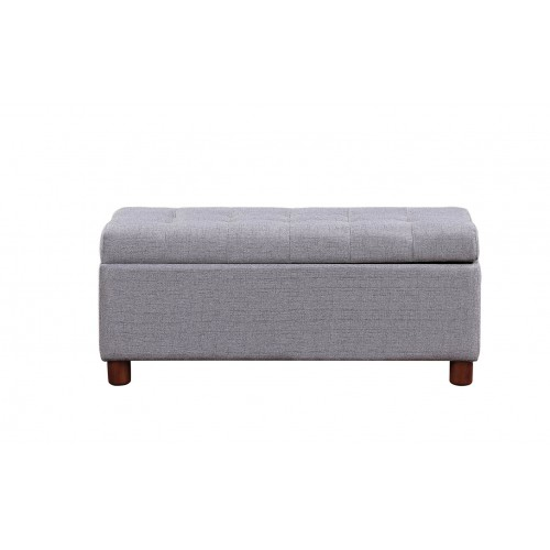 Multifunctional Storage Bench Tufted Linen Fabric Ottoman Sofa Bench Home Change Shoe Storage Stool Storage Box