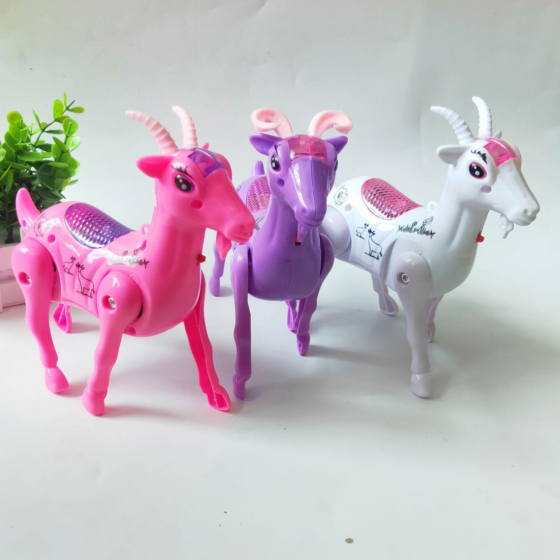 Hot Electric Music Walking Sheep Toys LED Light Glow Electronic Pets Lantern Toy Children Kids Baby Girl Boy Educational Toys