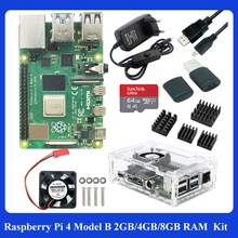 Ram--Case Power-Adapter Raspberry Pi RPI GB-CARD Fan for 4B 4-Model Heat-Sink Hdmi-Compatible