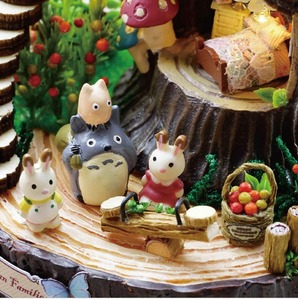 Image 5 - Forest Wooden Totoro DIY Doll House Home Decoration Handmade Cartoon Kit Miniature Home Assembling Toys Dollhouse Gift Toy