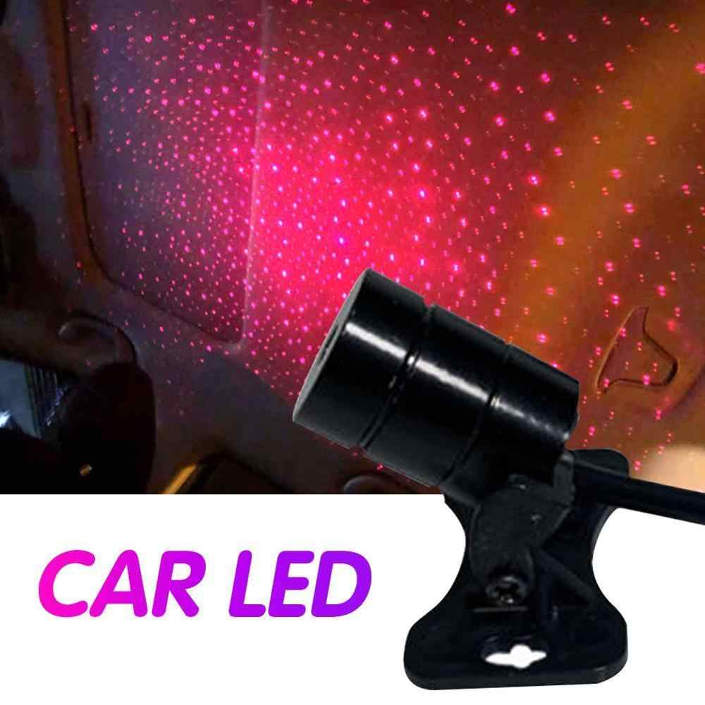 Car Atmosphere Ambient Star Light DJ Colorful Music Sound Lamp Remote Control Spotlight Voice Control LED Light USB Plug