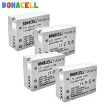 цена на Bonacell 7.2V 1400mAh NB-10L Batteries for Canon G1X G15 G16 SX40HS SX50HS SX60HS SX40 SX50 SX60 HS camera battery