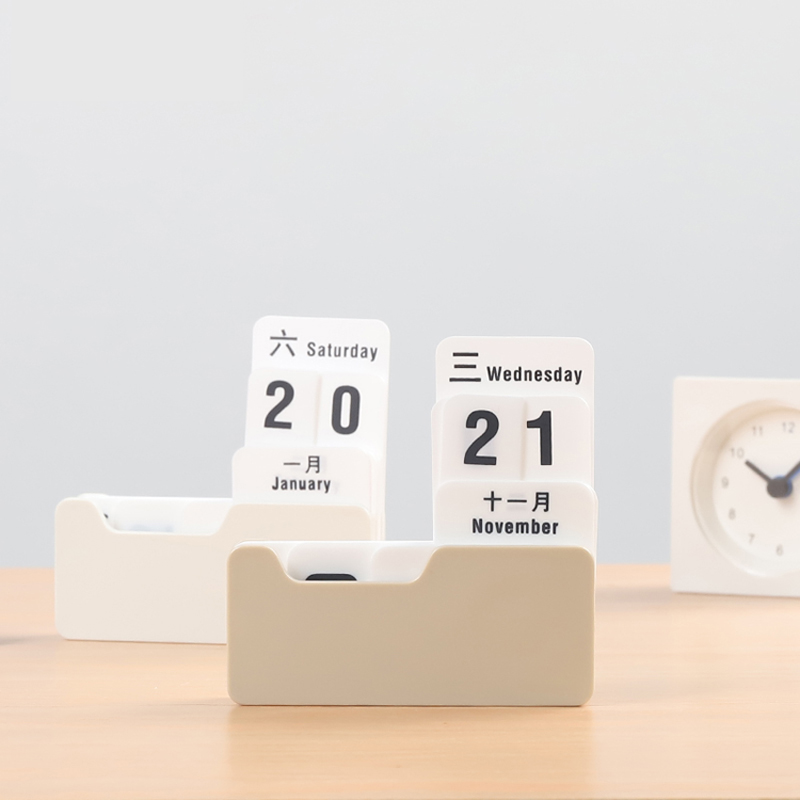 Novelty PP Perpetual Calendar Vintage DIY Calendars Art Crafts Home Office School Planning Organizer Desk Decoration Gifts