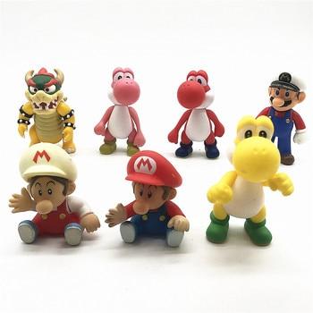 Super Mario Figures Toys Mario Bros Bowser Luigi Koopa Yoshi PVC Action Figure Model Dolls Toy prettyangel genuine bandai tamashii nations s h figuarts super mario brothers mario action figure