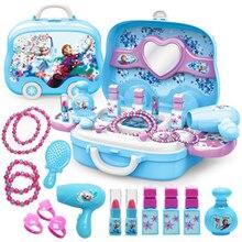 Disney kızlar oyuncaklar prenses oyuncaklar dondurulmuş giyinme makyaj oyuncak seti çocuklar makyaj dondurulmuş oyuncaklar çocuk tuvalet masası oyuncaklar oyuncaklar oyuncaklar