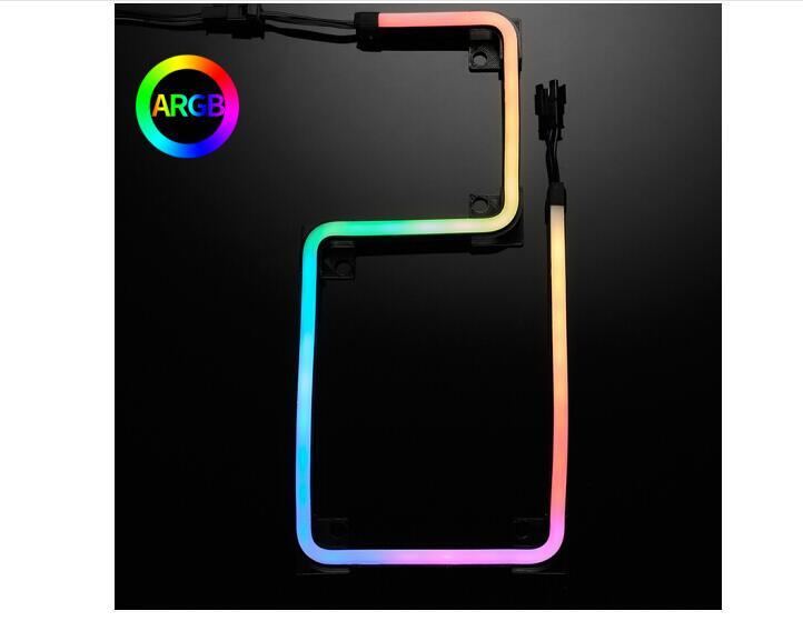 PHANTEKS M1 M5 Light Strip ARGB Neon Computer Case Decoration Led Strip 5V 3PIN Light Header AURA 550mm 1000mm