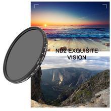 ND تصفية ND2 400 nd تصفية 37/40.5/43/46/49/52/55/62/67/72/77 مللي متر محايد الكثافة متغير عدسة تصفية تعديل كاميرا بدعة