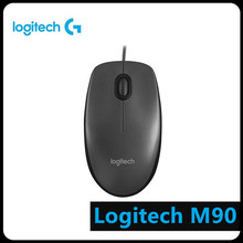 Logitech M90 USB Wired Mouse Ergonomic Plug and Play Optical Gaming Office Mouse Mice For Laptop Desktop PC Computer Home Office noyokere mini cute wired mouse usb 2 0 pro office mouse optical mice for computer pc mini pro gaming mouse