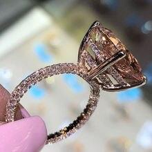 Milangirl-anillo de compromiso champán superllamativas redondo brillante, CZ, cristal de lujo, joyería femenina