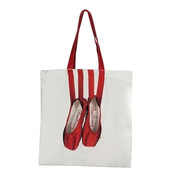 Czerwone damskie modne buty baletowe płócienne torby drukowanie taniec sztuka ramię torby tanie i dobre opinie CN (pochodzenie) Poliester polyester cotton WOMEN Stałe Torby na zakupy zipper BT163RD Na co dzień