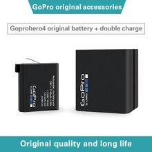 GoPro hero4 Black / silver Sports Camera original accessories large capacity battery AHDBT 401 + double charging belt line AHBBP
