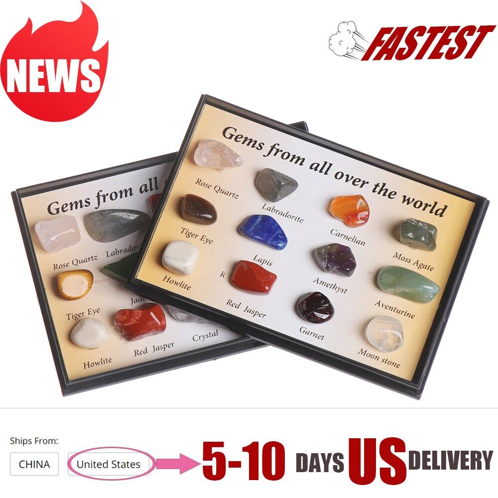 12/15 peças pedras preciosas polida, pedras preciosas cru cristal de quartzo, amostras de ore colecionáveis em casa decoração