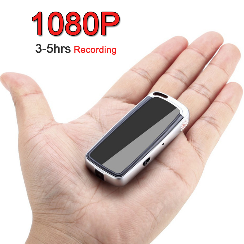 1080P 720P HD 3-5hrs Key Chain Digital Video Camera Camcorder Recorder Voice Audio Recording Noise Canceling Mini DV