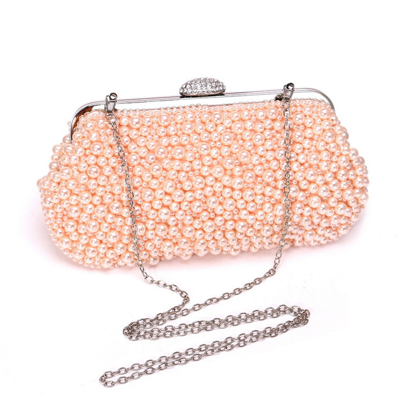 Luxury Designer Pearl Party Wedding Clutch Bags Ladies Chain Shoulder Bag Women's Handbags Wallets Evening Bag For Phone Purse