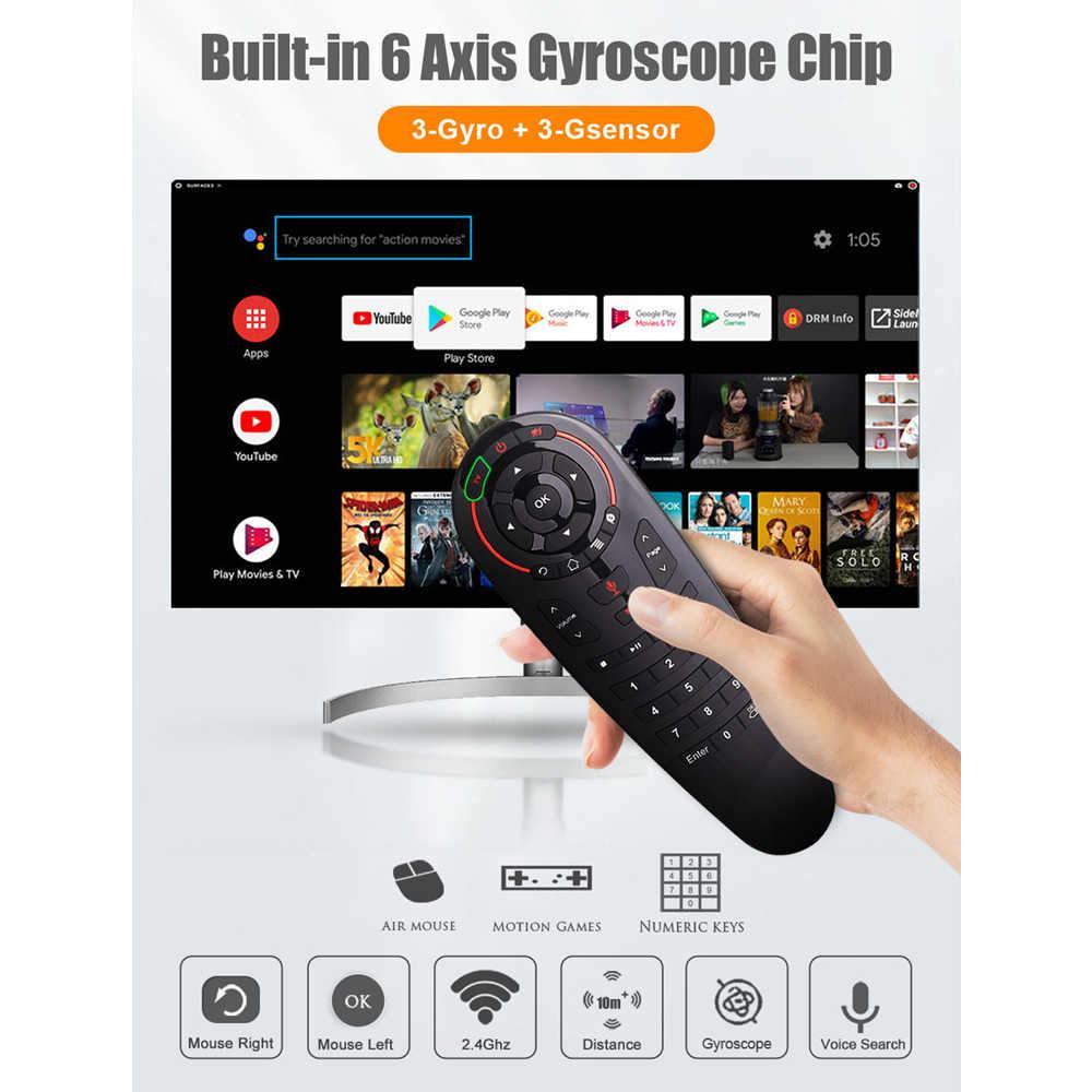 TTVBOX G30 afstandsbediening 2.4G Draadloze Voice Air Mouse 33 toetsen IR leren Gyro Sensing Slimme afstandsbediening voor Game android TV Box