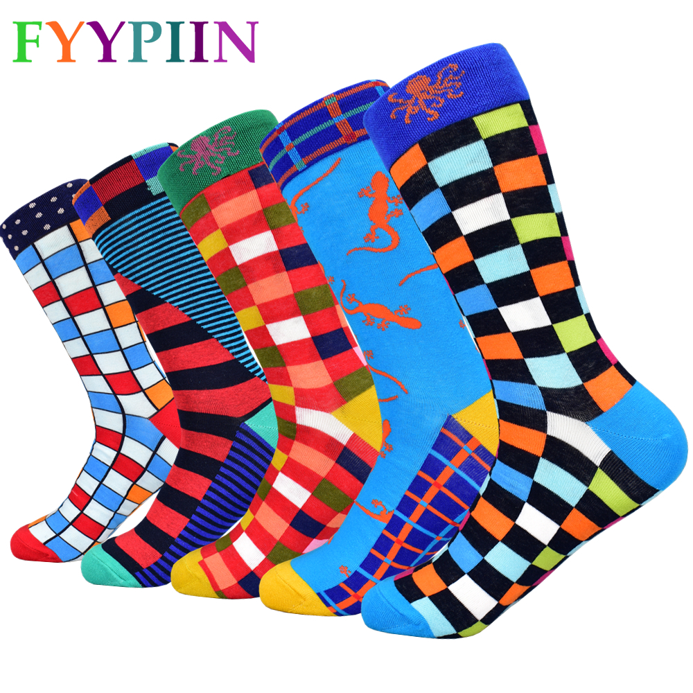 Calcetines Hombre 2020 The New Standard Men's Socks Popular Male Cotton Socks, Free Shipping Colorful Socks.(5 Pair/lot)No Box