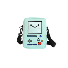 Cartoon Anime Adventure Time Woman Crossbody Canvas Bags Game Machine Coin Purse Girl Cute Shoulder Bags Kids