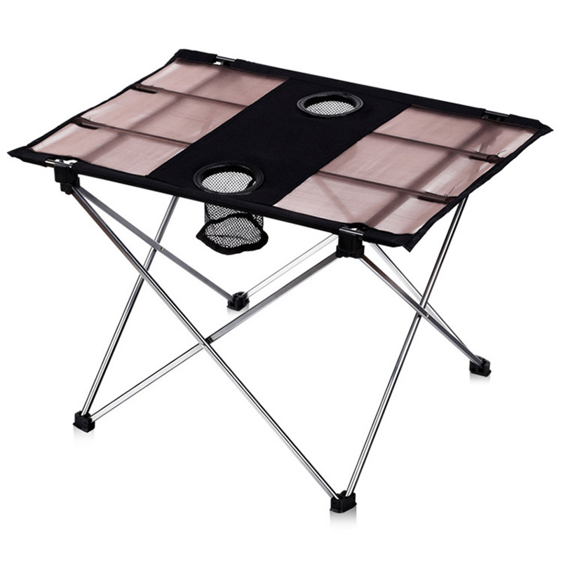 Aluminum Outdoor Folding Table Portable Barbecue Tables Simple Camping Table Outdoor Picnic Table Car Travel Light Table
