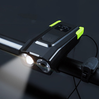 bicycle light+ bell Cycling Bike Bicycle flashlight front lights led Handlebar Ring Horns horn Electronic Alarm Bell Sound H001 Bicycle Light    -