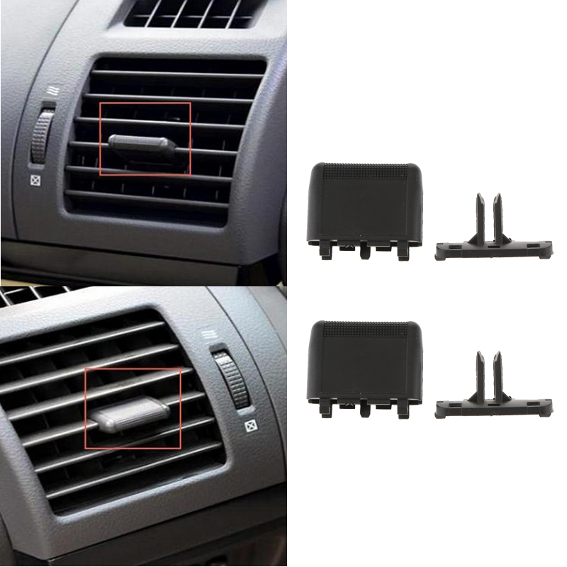 2x Car Dash A/C Vent Louvre Slice Air Conditioning Leaf For Toyota 10-17