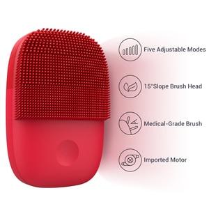 Image 4 - Inface обновленная версия щетка для очищения лица электрическая ультразвуковая щетка для лица глубокое очищение водонепроницаемый инструмент
