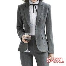 New Fashion 2 Piece Set Women Pant Suits Slim Work Wear Offi