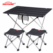 Camping Table Collapsible Lightweight Aluminum Portable Roll Up Outdoor Folding Patio Metal Foldable Picnic